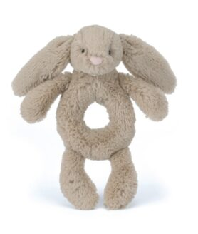 Jellycat bashful kanin rangle beige 18 cm.