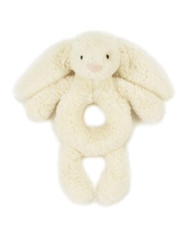Jellycat bashful kanin rangle creme 18 cm.