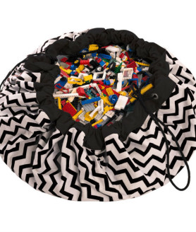 Play&Go opbevaringspose zigzag sort