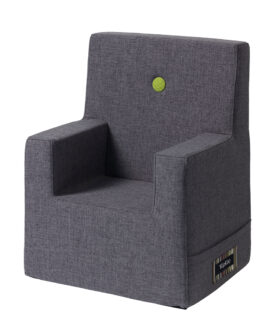 By KlipKlap kids chair XL blue grey w. green