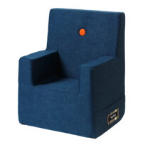 By KlipKlap kids chair XL dark blue w orange