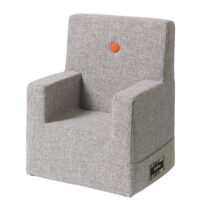 By KlipKlap kids chair XL multi grey w orange