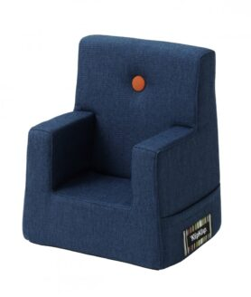 By KlipKlap kids chair dark blue w orange