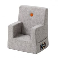 By KlipKlap kids chair multi grey w orange