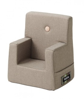 By KlipKlap kids chair warm grey w light peach