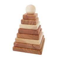 Wooden Story stablepyramide natur