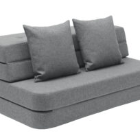 By KlipKlap 3 fold sofa blue grey w grey