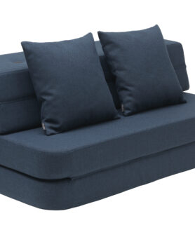 By KlipKlap 3 fold sofa dark blue w black