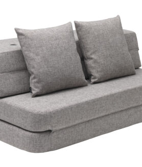 By KlipKlap 3 fold sofa multi grey w grey