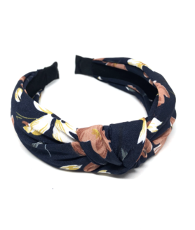 9599034 Bow's by Stær hårbøjle navy antique blomster