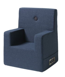 By KlipKlap kids chair XL dark blue w black