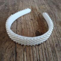 Bow's by Stær Kirstine braided pearl headband