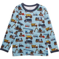 Freds World bluse med maskiner water blue