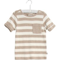 Wheat Hubert t-shirt melange sand