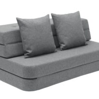 By KlipKlap 3 fold sofa XL blue grey w grey