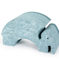 bObles elefant light blue marble