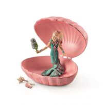 Schleich Mermaid with baby seal in shell